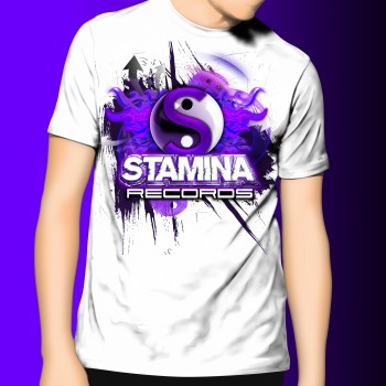Stamina Records Original White Tee